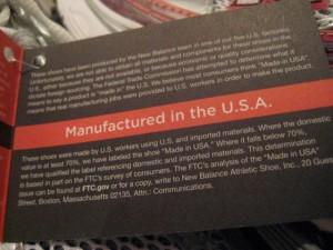 New Balance Manufactured USA