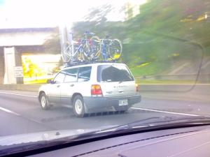 Subaru with Four Bikes!