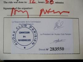 Audax certified stamp