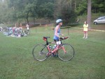 Running bike out of transition