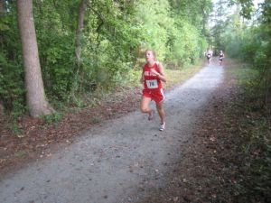 Runners on the Milton High School Trail